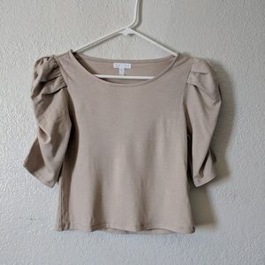 Leith ruched top nwt small